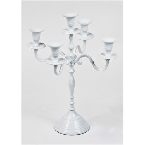 Candelabro bianco 5 fiamme H40cm 12,20 €
