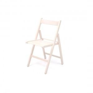 Sedie chiudibili in legno bianco 4,27€