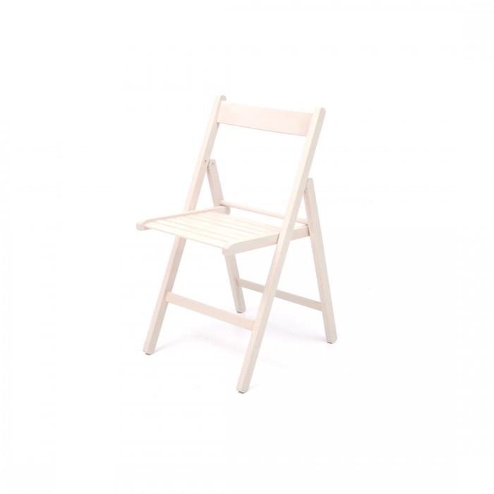 Sedie chiudibili in legno bianco
