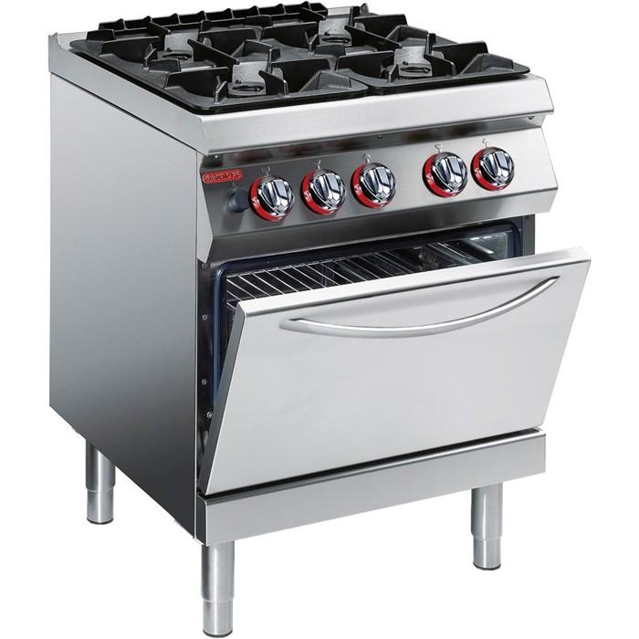 Cucina industriale 4 fuochi a gas 488,00€