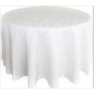 Tovaglia rotonda damascata bianca 310cm 21,96€
