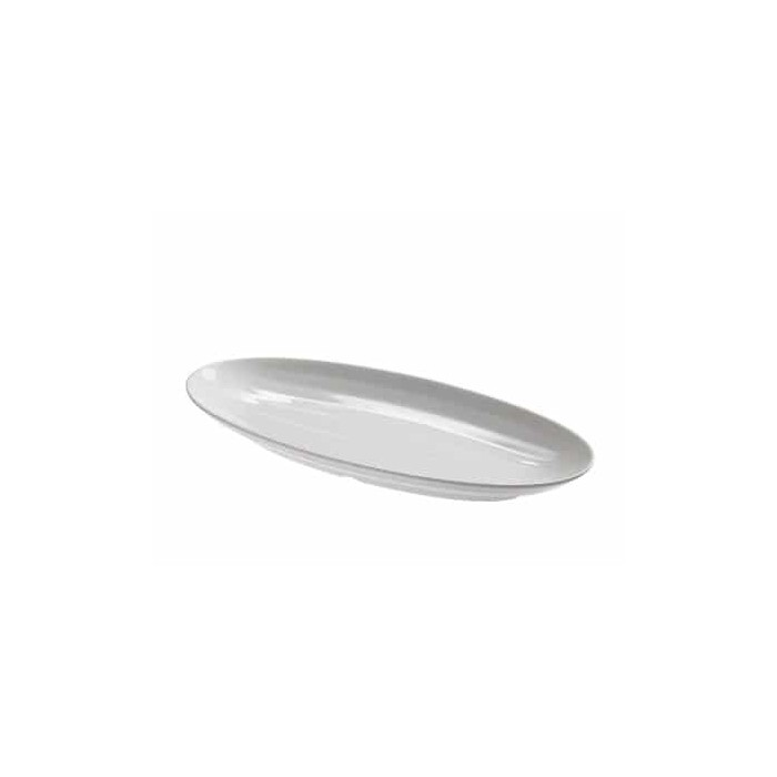 Vassoio ovale in melamina bianca 6,10€