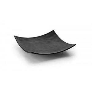 Vassoio nero in melamina quadrato con angoli 6,10€
