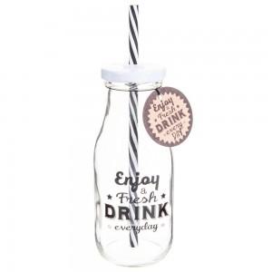 Bottiglietta con cannuccia 0,61€