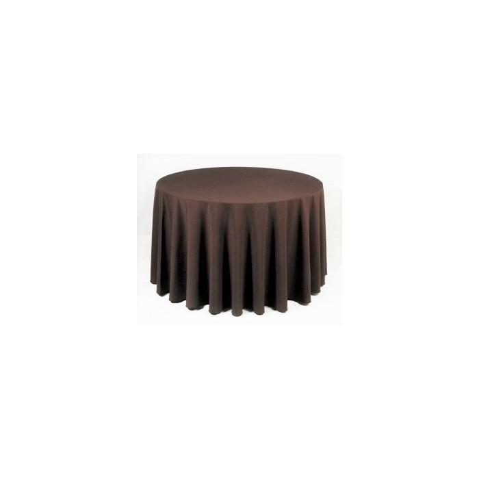 Tovaglia rotonda marrone 310cm 24,40€