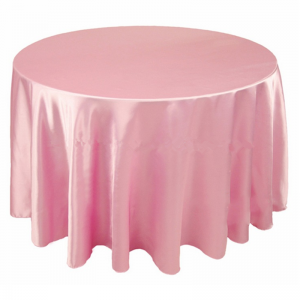 Tovaglia rotonda rosa in raso diametro 310 21,96€
