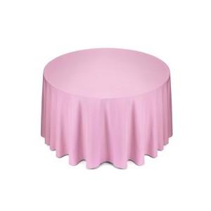 Tovaglia rotonda rosa in cotone 310cm 17,69€