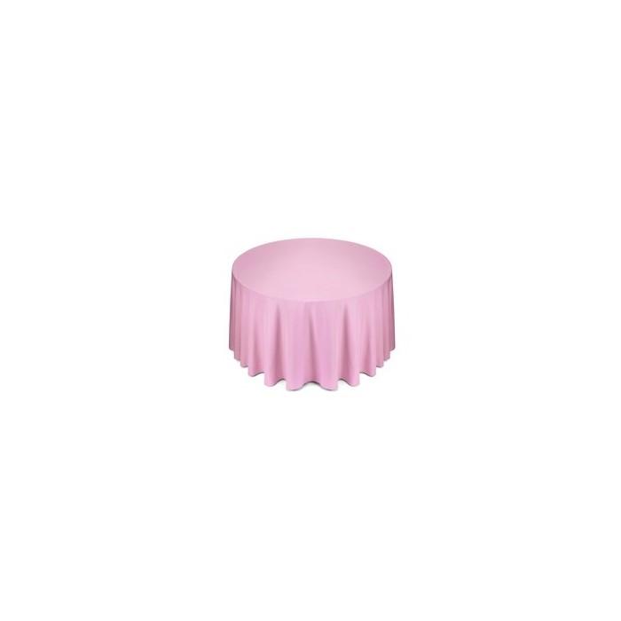 Tovaglia rotonda rosa in cotone 310cm 18,30€