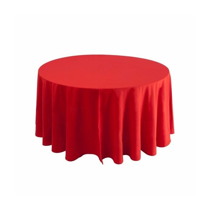 Tovaglia rotonda rossa 310cm 24,40€