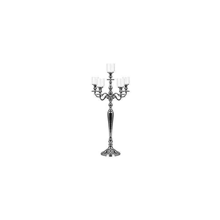 Candelabro con porta candela in vetro 36,60€