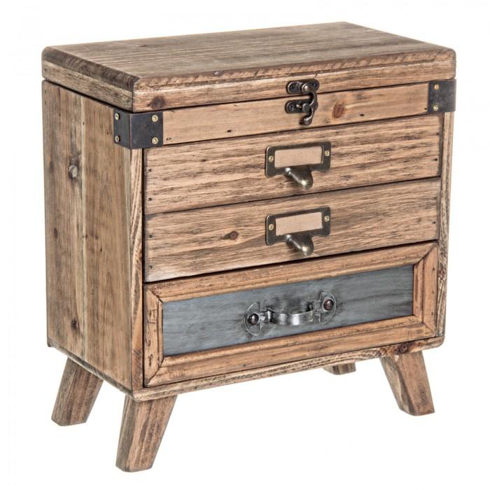 Cassettiera in legno vintage 48,80€