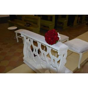 Inginocchiatoio in legno per matrimoni 122,00€