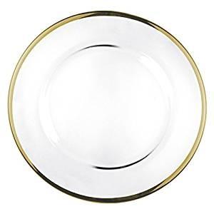 Sottopiatto trasparente filo oro D-32 5,49€
