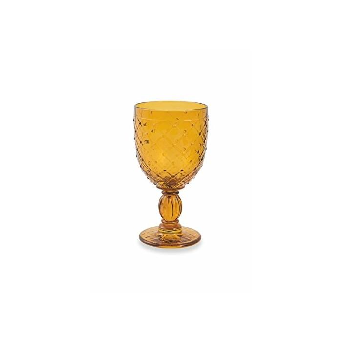 Calice vino barocco giallo 1,10€