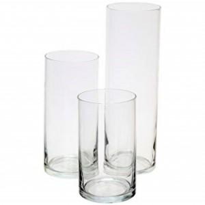 Tris di vasi cilindro per candele 4,76€