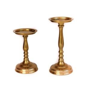 Mono candela oro H 30cm 3,66€