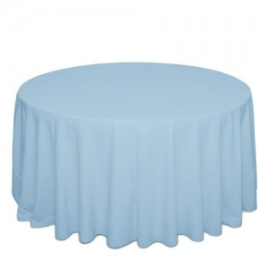 Tovaglia celeste polvere per tavolo rotondo 310cm 18,30€