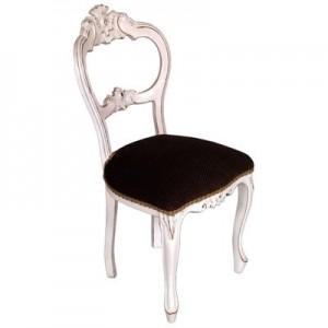 Coppia di sedie barocche per sposi schienale aperto 61,00€
