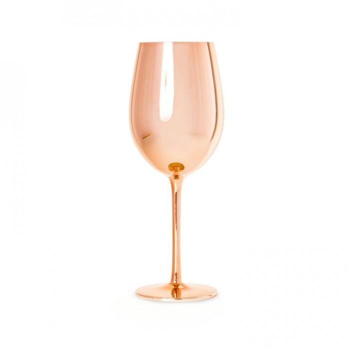 Calice vino rosa gold vetro 2,20€