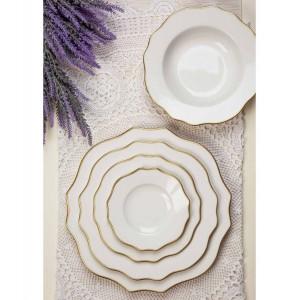 Piatto pane in porcellana fascia oro zecchino d-16 3,78€