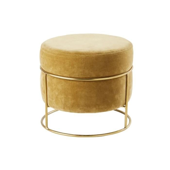 Pouf in velluto struttura oro 24,40€