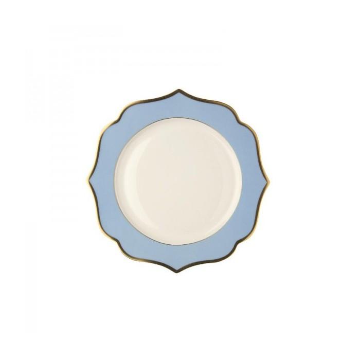 Piatto pane fascia oro bordo azzurro D-16 3,78€